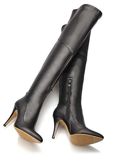 Botas 7 Eu42 Negro A Stiletto Y Zapatos us10 Puntiagudos Rojo 5 Mujer Uk8  Cn Tacón ... 100449dc96581