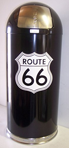Retro Style Bullet Trash Can- Route 66