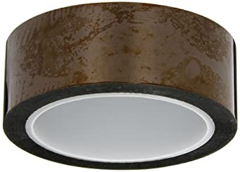 """CS Hyde Kapton with Silicone Adhesive, 2 mil Thick, Amber, 1.5"""" Width x 36 Yard Roll"""