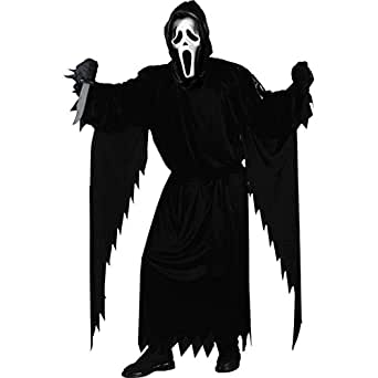 Fun World Costumes Adult Scream Costume, Black, One Size