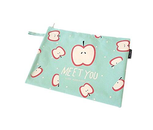 2Pcs Stylish Paper Storage Bag File Bag Fashion Student Stationery