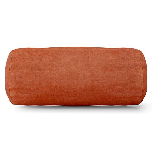 Majestic Home Goods Villa Round Bolster, Orange (Pillow Orange Bolster)
