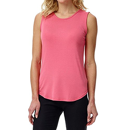 Sunhusing Women Loose Tank Tops Solid Color O Neck T-Shirt Sleeveless Vest Sports Casual Camis Shirt Pink -