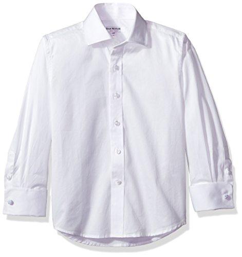 Isaac Mizrahi Big' Boy's French Cuff Cotton Shirt, White, 10