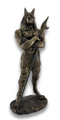Egyptian God Anubis Statue Deity Jackal Figurine
