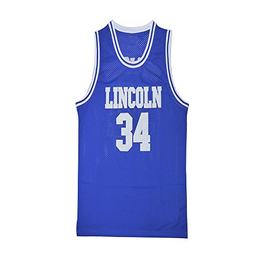 Ray Allen Played in He Got Game Movie Lincoln #34 jesus shuttlesworth Basketball Jersey Embroidered white/blue S to XXXL