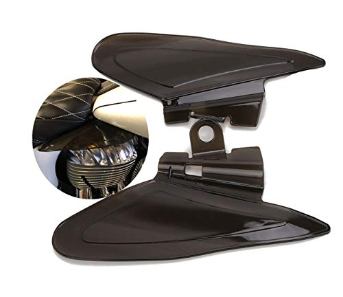 Boxcar Smoke (Smoke Color Reflective Saddle Heat Shields for Indian Roadmaster, Chief 2014-2017)