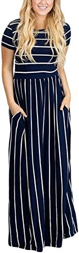 HOTAPEI Womens Summer Casual Striped