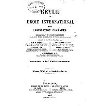 Revue de Droit International et de Législation Comparée - Tome XXIV (French Edition)