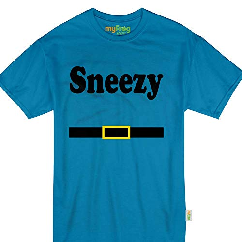 My Frog Store Sneezy Dwarf Halloween Family Matching Costume Tshirt -