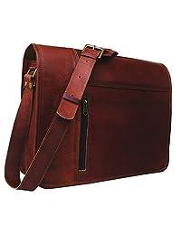 babf935a9c Leather Laptop Messenger Bag Vintage briefcase Satchel for Men and Women-  16 Inch by VINTAGE