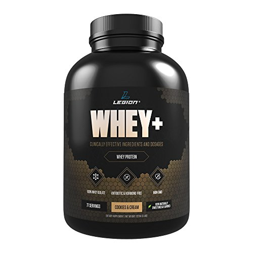 Legion Whey+ - Best Whey Protein Powder for Weight Loss (Cookies & Cream, 5 (Fat Free Vanilla Cookies)