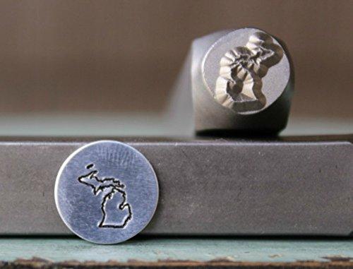 8mm Michigan US State Metal Punch Design Jewelry Stamp