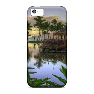 Defender Case With Nice Appearance (palms At Sunset) For Iphone 5c