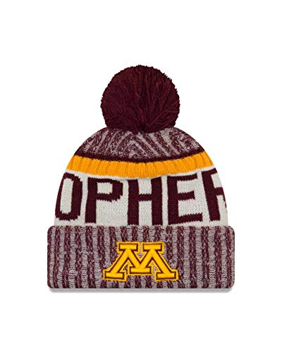 Minnesota Golden Gophers Adult NCAA NE17 Sport Knit Beanie - Team Color, One - Wool Minnesota Gophers Golden