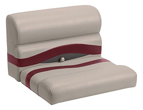 - Wise Premier Series Pontoon 27-Inch Bench Seat, Cushions Only, Mocha Java/Mocha Java Punch/Dark Red/Rock Salt