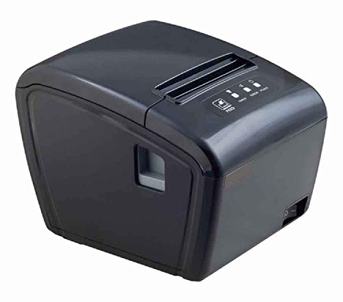 SUJIT Vision 350P Thermal Receipt Printer 80mm(3inch) Speed 250mm/sec LAN USB Auto Cutter Paper (Black) BIS Approved for POS
