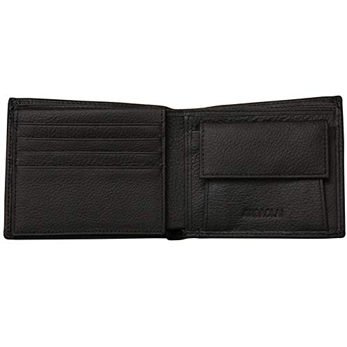 Black Friday Clearance Sale & Deals Day 2018-Leather Wallet Men Coin Purse Wallets Leather With Coin Pocket mens Wallets for Crash (Black)]()