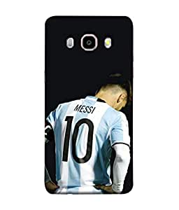 ColorKing Football Messi Argentina 14 Black shell case cover for Samsung J5 2016