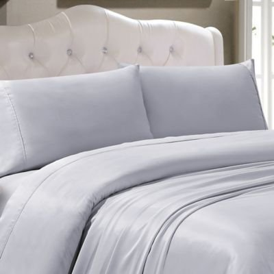 The Great American Store 1800 Series Brushed Microfiber Hide a Bed Sleeper Sofa Sheets Queen Size Light Grey