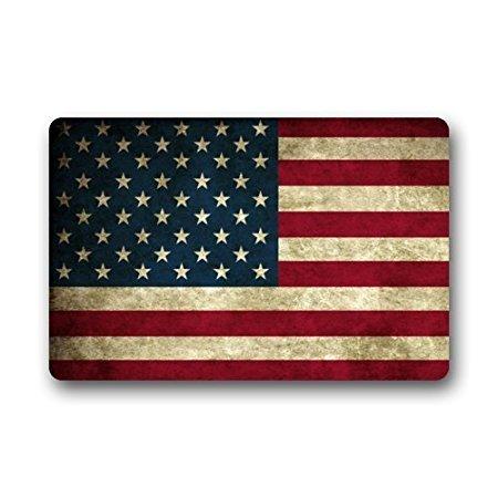 TSlook Doormat Vintage Flag of American Indoor/Outdoor/Front Welcome Door Mat(23.6