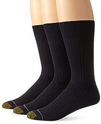 Gold Toe Men\'s Canterbury Dress Sock, Navy, Sock Size 10-13, 3-Pack(Shoe Size 6-12.5)