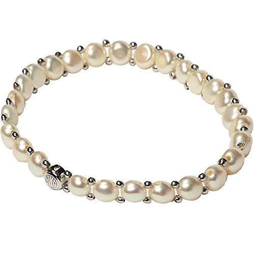 Freshwater Cultured Bracelet Stretch Stainless