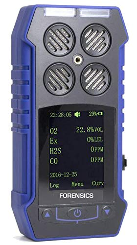 MULTIGAS Detector O2, CO, H2S, LEL by Forensics & BOSEAN | Color Display with Graphing ...