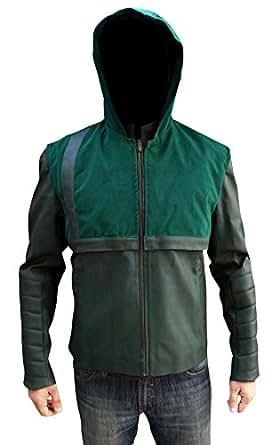 Prime American Green Arrow Stephen Amell Hooded Jacket (3XL)