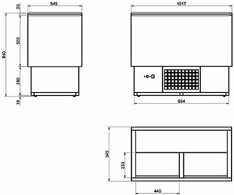 Botellero refrigerado industrial 1000 - Maquinaria Bar Hostelería: Amazon.es: Hogar