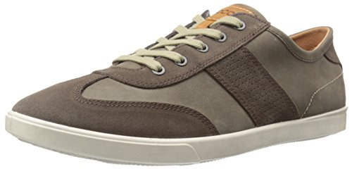 ECCO Men's Collin Retro Fashion Sneaker, Dark Clay/Tarmac, 44 EU/10-10.5 M - Retro Fashion Male