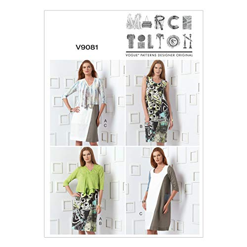 Vogue Patterns V9081F50  Misses' Cardigan and Dress Sewing Template, Size F5 (16-18-20-22-24)