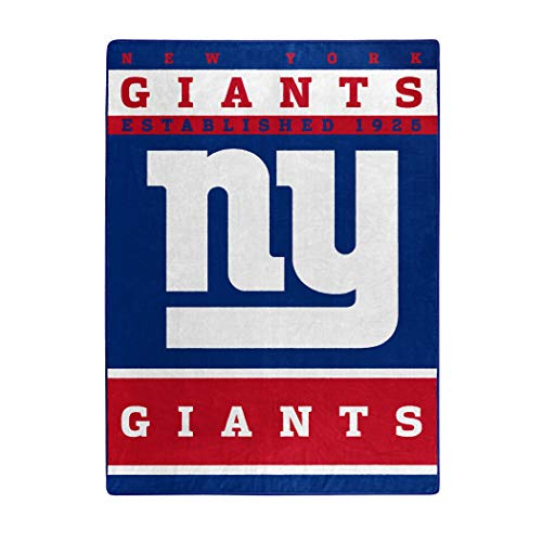 The Northwest Company Officially Licensed NFL New York Giants 12th Man Plush Raschel Throw Blanket, 60