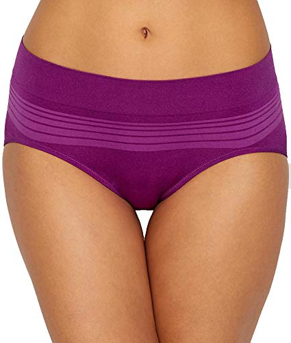 Warner's Women's No Pinching No Problem Seamless Hipster Panty, Hollyhock, L ()