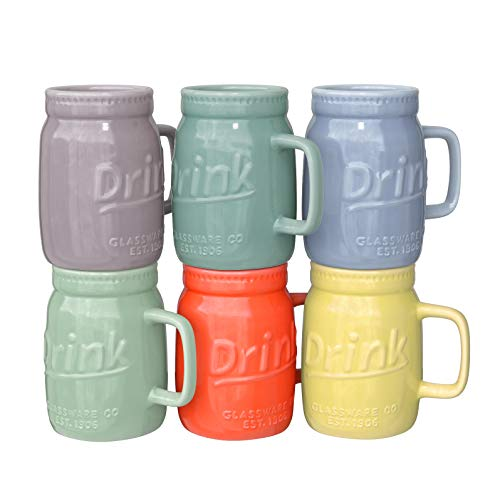 coffee mug set rustic - 4