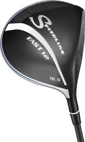 Adams Men's Golf Speedline Fast12 Driver (Left-Hand, Grafalloy ProLaunch Graphite, Stiff, 10.5 degree)