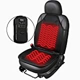 Sojoy SJ120R009T Universal 12V Heated Car Seat/Cushion Warmer High/Low, 30 Mins Automatically Turn-Off Timer, Black