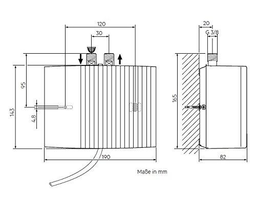 AEG 189555 MTH 440 - Calentador de sistema abierto (tamaño pequeño, 4,4 kW, 230 V), color blanco: Amazon.es: Bricolaje y herramientas