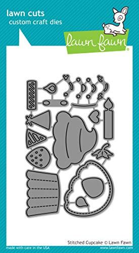 (Lawn Fawn Stitched Cupcake Custom Craft Die (LF1978))