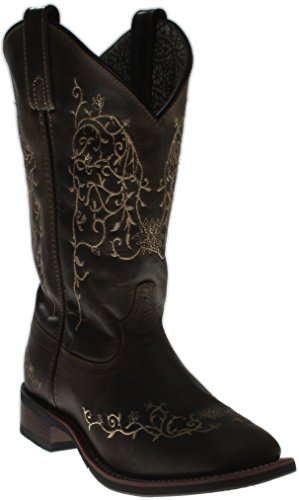 Laredo Womens Taupe IVY Leather Cowboy Boots 11in Embroidered 10 M by Laredo