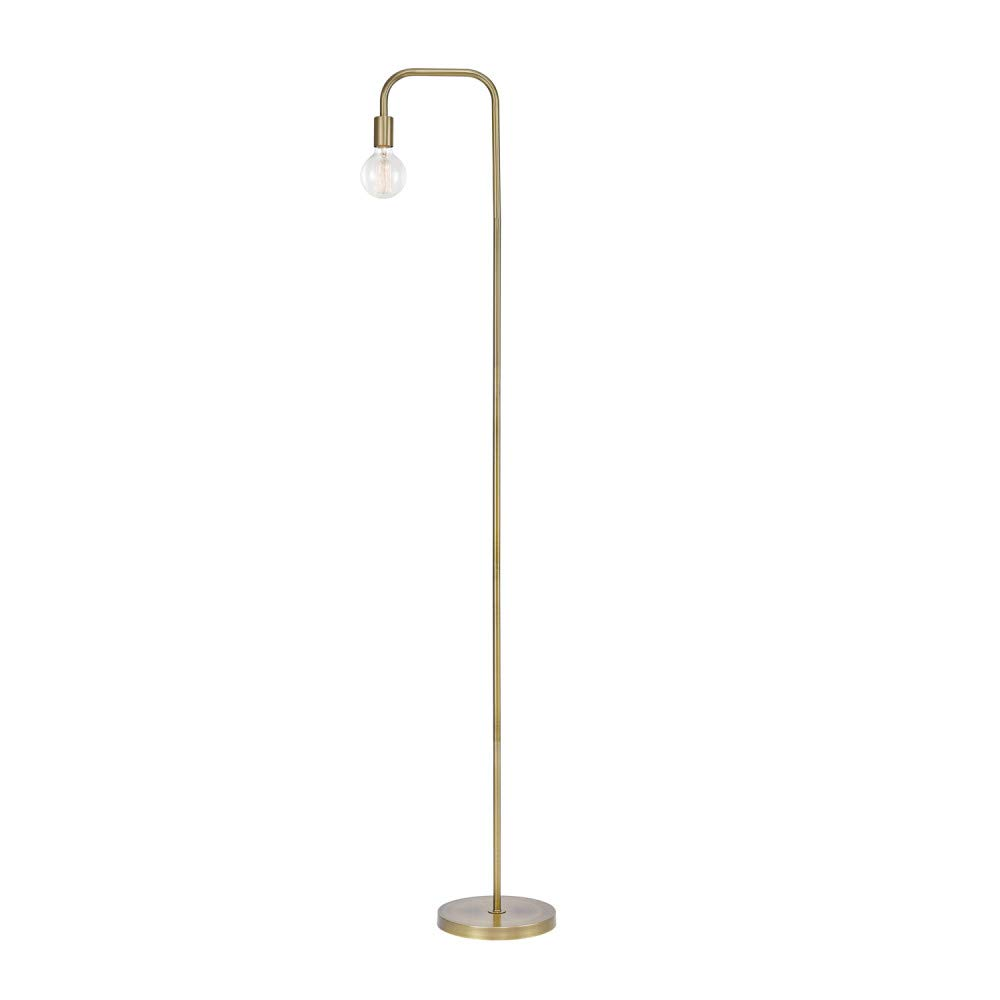 "Globe Electric Holden 70"" Floor Lamp, Matte Brass, In-Line On/Off Foot Switch 67068"