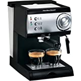 Hamilton Beach 15-Bar Italian Pump Espresso Maker, Black and Stainless