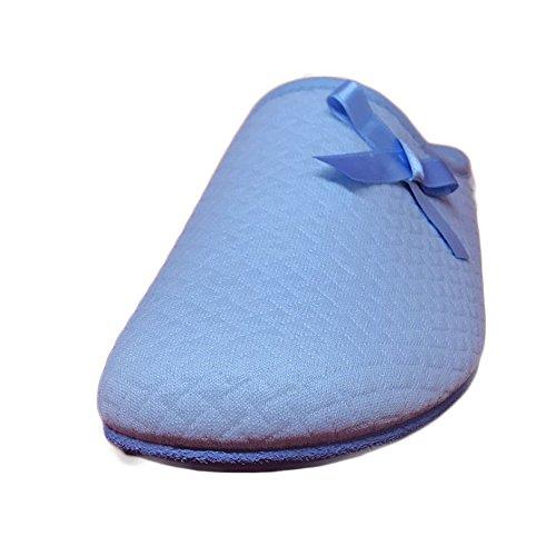 Cosdam 0532, Damen Hausschuhe Blau