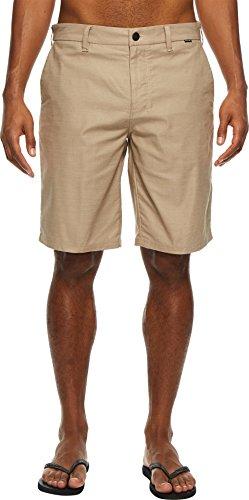 Hurley Spandex Shorts (Hurley 922660 Men's Dri-Fit Breathe Shorts, Khaki - 38)