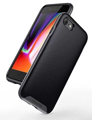 iPhone 8 Case, iPhone 7 Case, Anker Breeze Case Military-Grade Certified Protection, 3D Texture Case [Support Wireless Charging] [Slim Fit] for Apple 4.7 in iPhone 8 (2017) / iPhone 7(2016) -Gunmetal (Breeze Case)