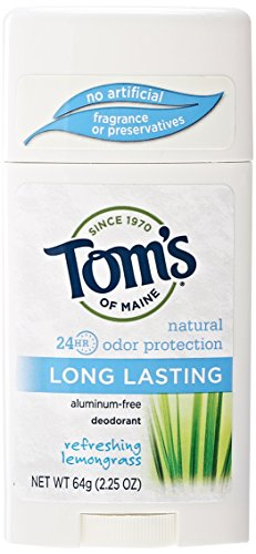 Tom's of Maine Natural Deodorant Stick, Aluminum Free, Long Lasting, Refreshing Lemongrass, 2.25 (Lemongrass Deodorant)