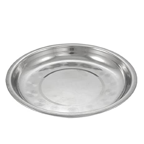Kitchen 19.5cm Dia Stainless Steel Dinner Plate Dish  sc 1 st  Amazon.com & Amazon.com | Kitchen 19.5cm Dia Stainless Steel Dinner Plate Dish ...