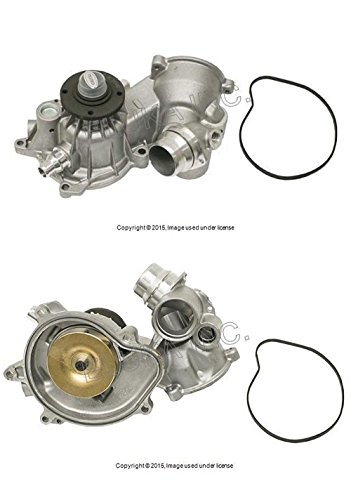 BMW Water Pump with Gasket and Heater Return Pipe O-Ring E53 E60 E63 E64 E65 E66 X5 4.4i X5 4.8is 545i 645Ci 645Ci 745i ALPINA B7 ()