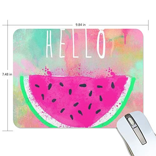 Hello Summer Juicy Watermelon Rectangle Mouse mat Non-Slip Rubber Gaming Mouse pad 9.8x7.5 inch