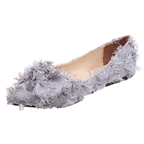 Sandales Chaussures Chaussures Chaussures Bowknot Bas Longra Chevrons Bohême Sandales Pointu Femmes Flops Shoes Femmes Enfiler Plat Profond à Gris Cross Talon pour Plates Bout Flip à Peu gCdRvwdq